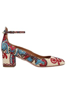 Aquazzura 50mm Alix Jacquard Mary Jane Pumps