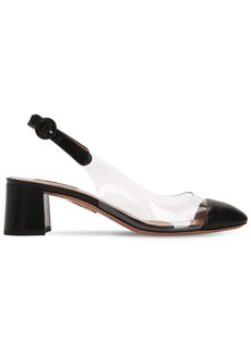 Aquazzura 50mm Optic Plexi & Leather Pumps