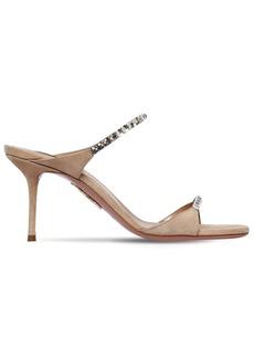 Aquazzura 75mm Embellished Suede Sandals