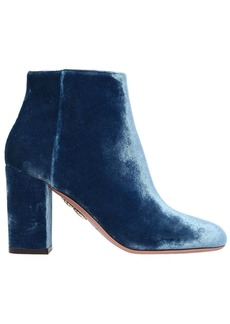 Aquazzura 85mm Brooklyn Velvet Ankle Boots