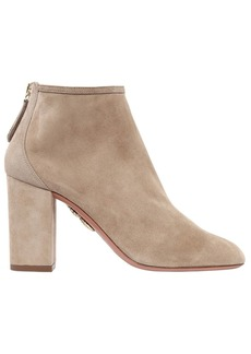 Aquazzura 85mm Down Town Suede Ankle Boots