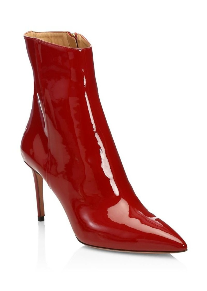 Aquazzura Alma Patent Leather Booties