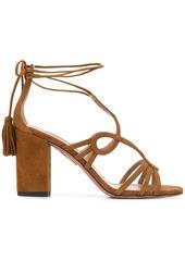 Aquazzura ankle-wrap block-heel sandals