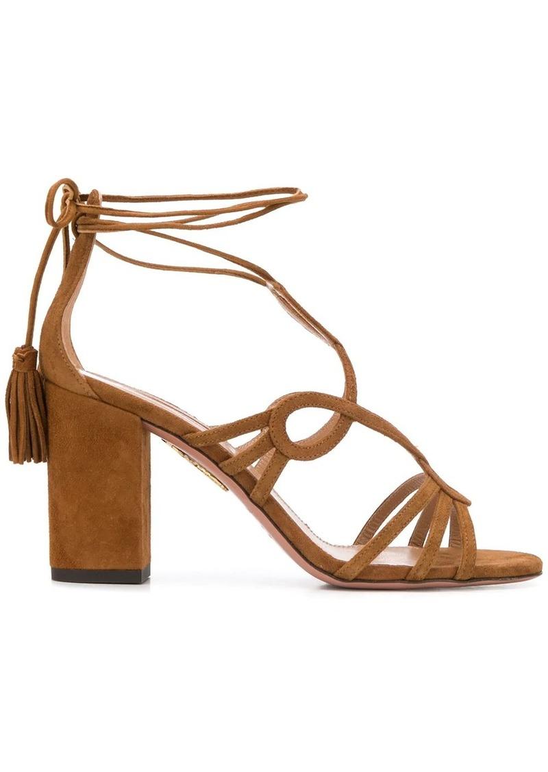 ankle-wrap block-heel sandals