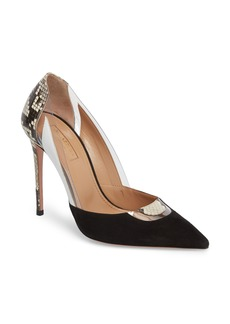 Aquazzura Fearless Genuine Snakeskin Pointy Toe Pump (Women)