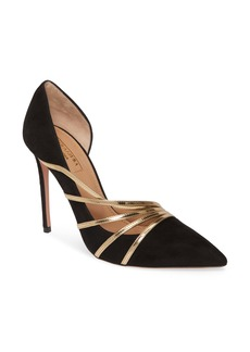 Aquazzura Aquazurra Minou Metallic Strappy Half d'Orsay Pump (Women)