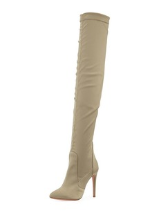 Aquazzura All I Need Stretch-Satin Over-the-Knee Boot