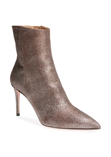 Aquazzura Alma Metallic Pointy Toe Bootie (Women)