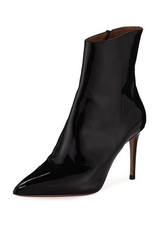 Aquazzura Alma Patent Leather Pointed Booties