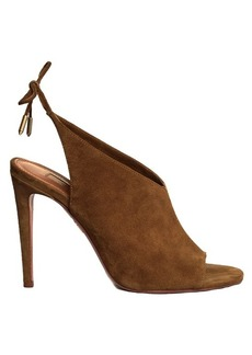 Aquazzura Ami tie-back suede sandals