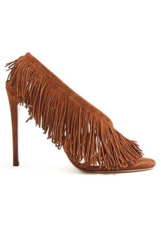 Aquazzura Apache 105 fringed suede pumps