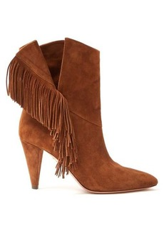 Aquazzura Apache 85 fringed suede ankle boots