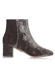 Aquazzura Baroque velvet ankle boots