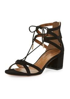 Aquazzura Beverly Hills Suede Lace-Up Sandal