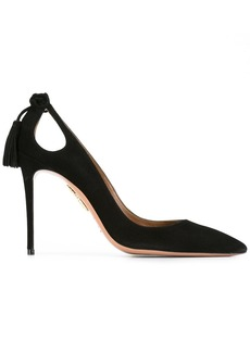 Aquazzura Black Forever Marilyn 113 Suede Pumps
