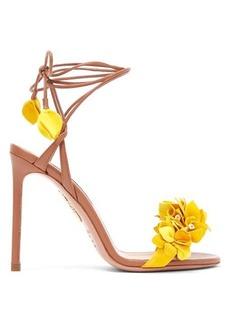 Aquazzura Bougainvillea 105 floral-appliqué leather sandals
