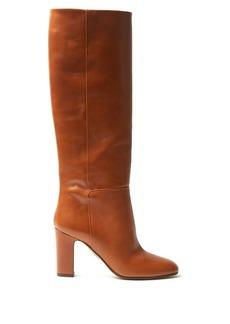 Aquazzura Brera 90 block-heel leather boots