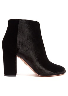 Aquazzura Brooklyn 90 velvet ankle boots