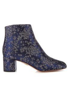 Aquazzura Brooklyn stardust-jacquard ankle boots