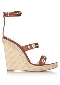 Aquazzura Byzantine embellished leather wedges