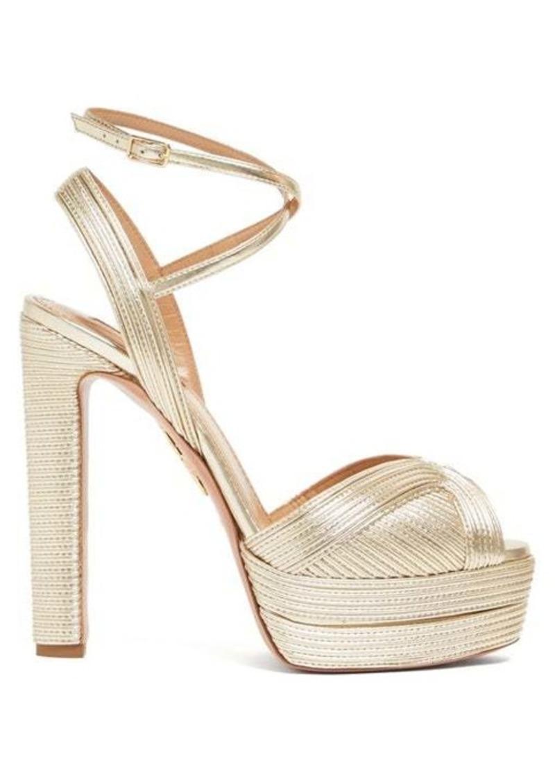 Aquazzura Caprice 130 leather sandals