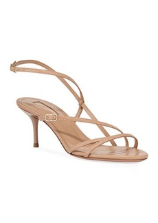 Aquazzura Carolyne Asymmetric Strappy Sandals