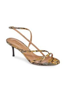 Aquazzura Carolyne Genuine Snakeskin Sandal (Women)