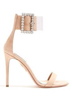 Aquazzura Casablanca 105 suede sandals