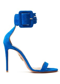 Aquazzura Casablanca 115 suede sandals