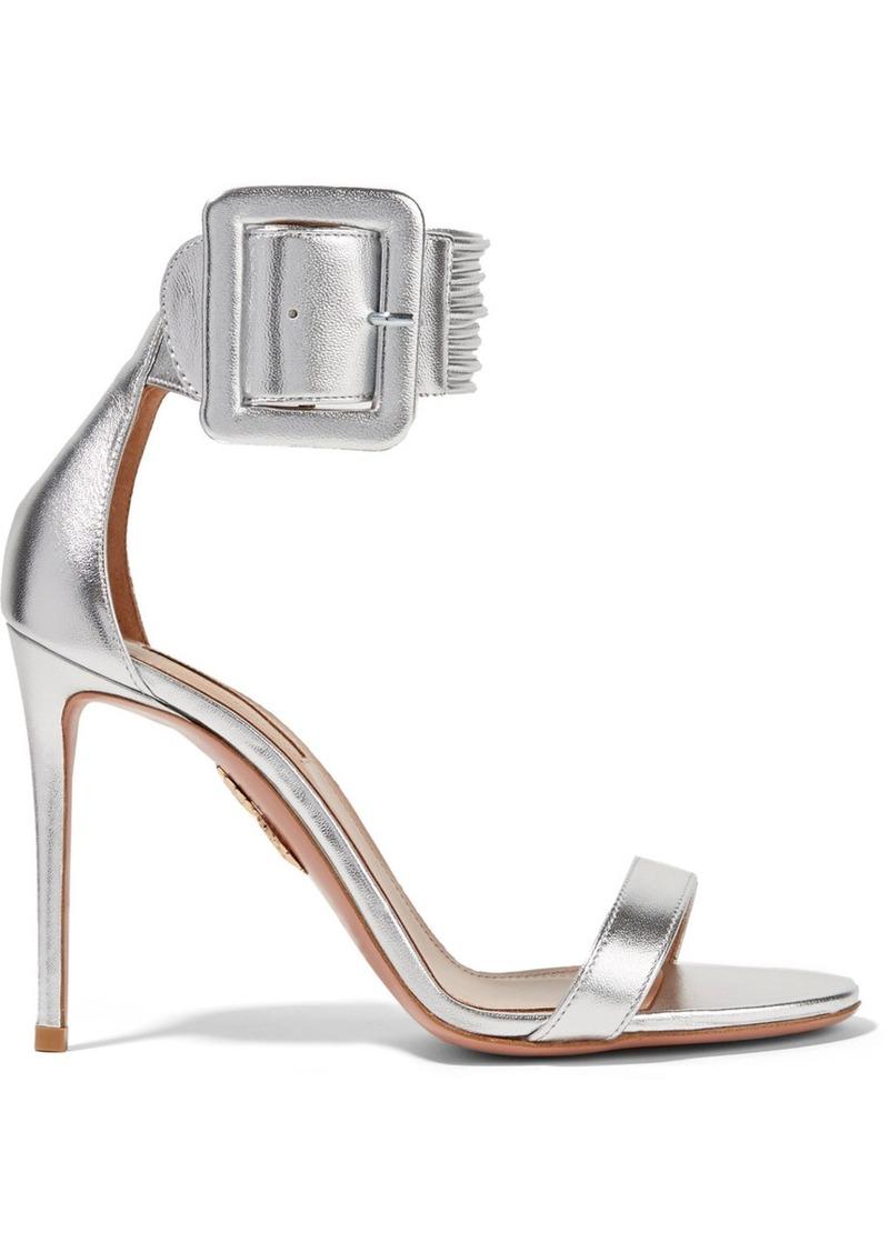 Pay With Visa Online Cheap Amazing Price Aquazzura Casablanca Metallic Leather Sandals Cheap Very Cheap 2018 Unisex Cheap Sale Store 3Oajrvq
