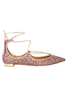 Aquazzura Christy glitter flats