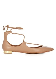 Aquazzura Christy leather flats