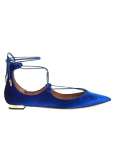 Aquazzura Christy velvet flats