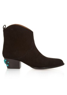 Aquazzura Cowboy Bootie suede ankle boots