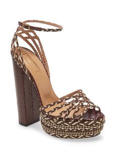 Aquazzura Cozumel Plateau Braided Sandal (Women)