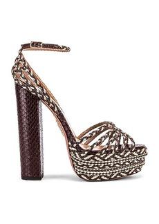 Aquazzura Cozumel Snake Print 140 Plateau Sandal