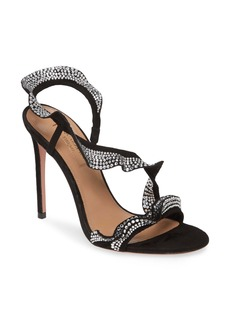 Aquazzura Crystal Ruffle Slingback Sandal (Women)