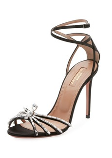 Aquazzura Crystal Spider Ankle-Wrap Sandal