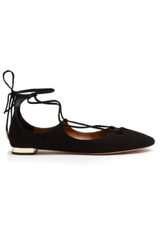 Aquazzura Dancer suede flats