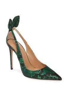 Aquazzura Deneuve Snake Print Pointed Toe Pump (Women) (Nordstrom Exclusive)