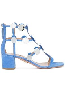 Aquazzura disc embellished gladiator sandal - Blue