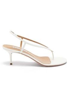 Aquazzura Divina 60 leather sandals