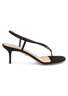Aquazzura Divina 60 suede sandals