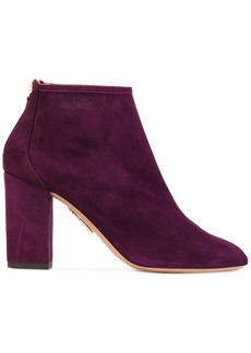 Aquazzura 'Downtown' ankle boots - Pink & Purple