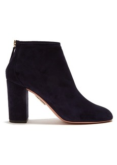 Aquazzura Downtown 95 suede ankle boots