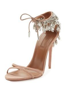 Aquazzura Eden Crystal-Embellished Sandals