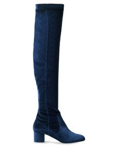 Aquazzura Essence velvet over-the-knee boots