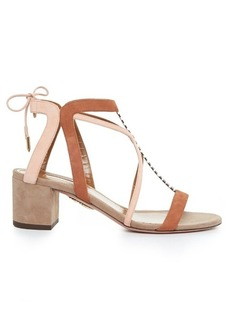 Aquazzura Fiji block-heel suede sandals