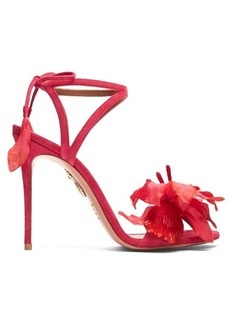 Aquazzura Flora suede sandals