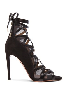 Aquazzura French Lover Leather & Suede Heels